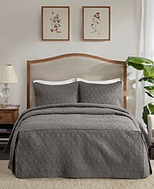 Quebec 3 Piece Queen Fitted Bedspread Set