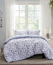Nells 3 Piece Full/Queen Cotton Printed Duvet Cover Set