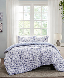 Madison Park Nells 3 Piece Full/Queen Cotton Printed Duvet Cover Set