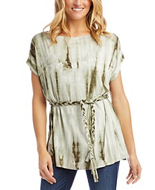 Belted Tie-Dyed Tunic
