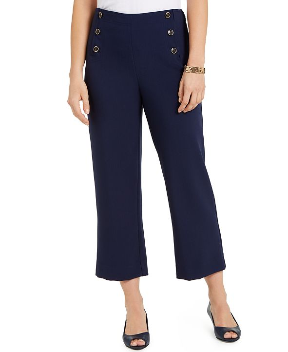 Charter Club Petite Cropped Sailor Pants, Created for Macy's