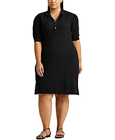 Plus-Size Collared Shift Dress