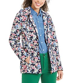 Floral-Print Hooded Utility Jacket, Created for Macy's