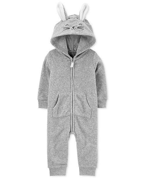 Carter's Baby Boys & Girls Hooded Bunny Terry Coverall