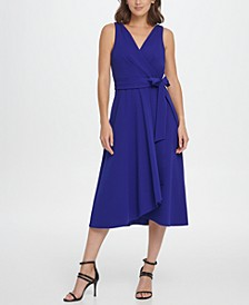 S/L Double-V Faux Wrap with Belt