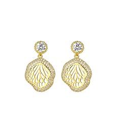 Gold-Tone Beach Seashell Earrings