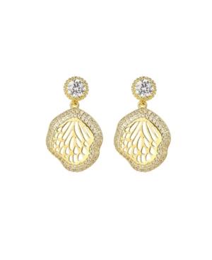A & M Gold-Tone Beach Seashell Earrings