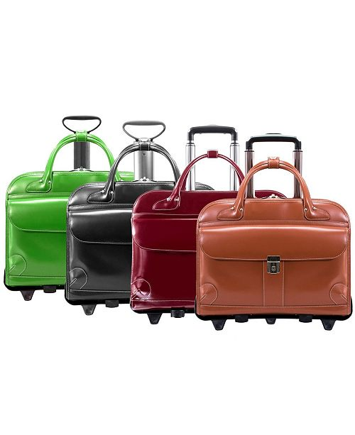McKlein W Series Lakewood Fly-Through Checkpoint-Friendly Detachable Wheeled Briefcase Collection