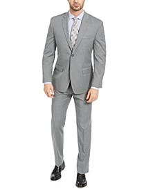 Men's Slim-Fit Gray Pinstripe Suit