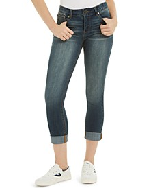 Juniors' Cuffed Cropped Skinny Jeans