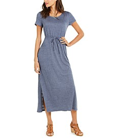 Plus Size Textured Drawstring Maxi Dress, Created for Macy's