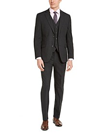 Men's Slim-Fit Stretch Charcoal Solid Suit Separates, Created For Macy's