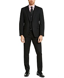 Men's Slim-Fit Stretch Black Solid Suit Separates, Created For Macy's