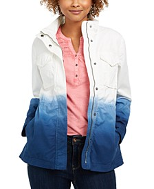 Petite Cotton Ombré Jacket, Created for Macy's