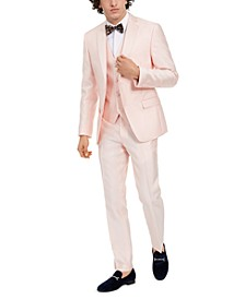 Men's Slim-Fit Stretch Pink Solid Tuxedo Separates, Created for Macy's