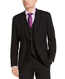 Men's Classic-Fit Stretch Solid Suit Jacket, Created for Macy's
