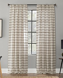 Textured Twill Stripe Anti-Dust Curtain Panel Collection