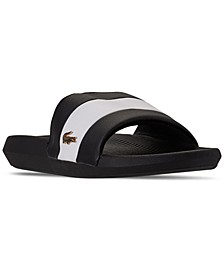 Women's Croco Metallic Slide Sandals from Finish Line