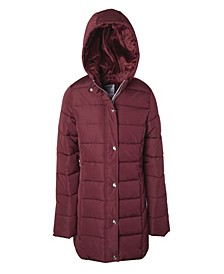 Little Girl Logo Taping Puffer Jacket