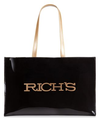 Rich's Large Open Tote with Logo - All Handbags