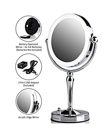 Lighted Tabletop Makeup Mirror