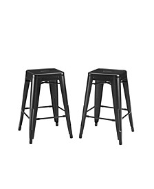 Amelia 2 Piece Backless Counter Height Bar Stool Set