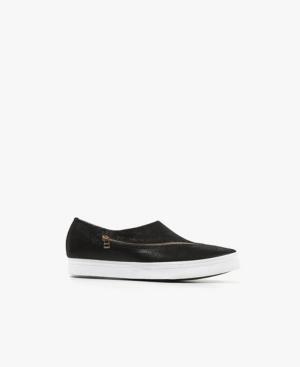 Slant Zipper Slip-On Women's Shoes