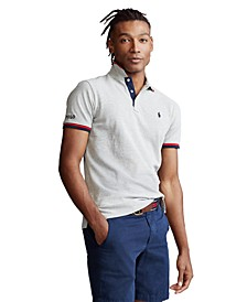 Men's Custom Slim Fit Mesh Polo Shirt