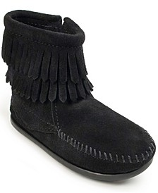 Little Girls Double Fringe Side Zip Boot