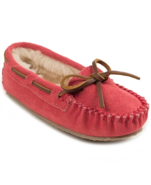 Minnetonka Kids' Toddler Girls Cassie Slipper In Blush