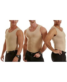 Insta Slim Men's 3 Pack Compression Muscle Tank T-Shirts