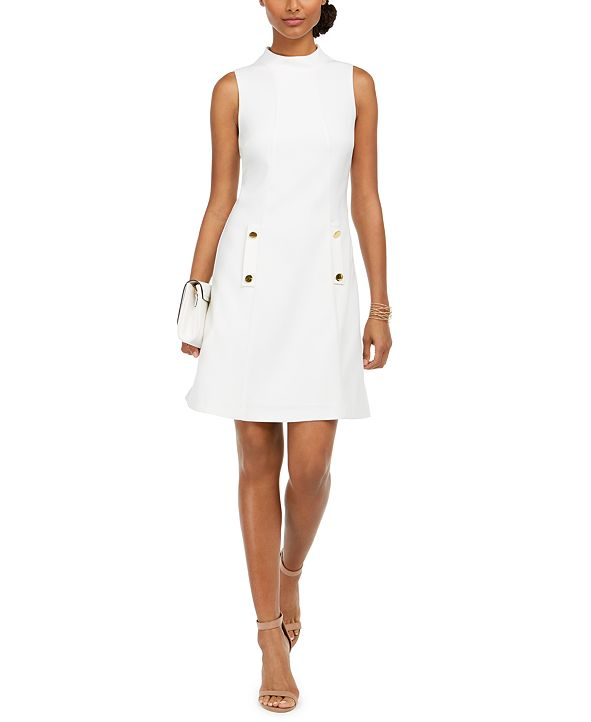 HARPER ROSE Mock-Neck A-Line Dress