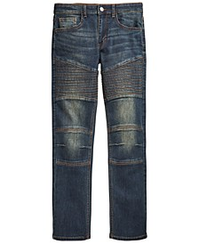 Big Boys Swerve Stretch Moto Jeans, Created for Macy's