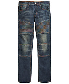 Ring of Fire Big Boys Swerve Stretch Moto Jeans, Created for Macy's