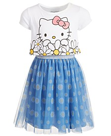Toddler Girls Oversized Daisy Layered-Look Dress