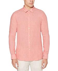 Men's Linen Roll Tab Shirt