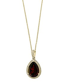 EFFY Garnet (6 1/6 c.t. t.w.) and Diamond (1/3 c.t. t.w.) Pendant in 14k Gold
