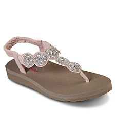 Women's Cali Meditation Stars and Sparkle Strappy Athletic Sandals from Finish Line