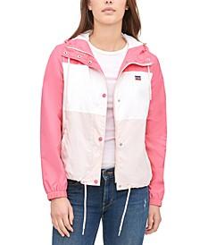 Women's Retro Hooded Windbreaker Jacket