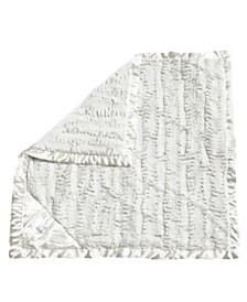 Plush Strollet Blanket with Satin Trim