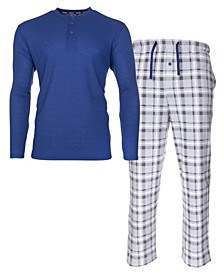 Men's Sleep Thermal Top Pant Set