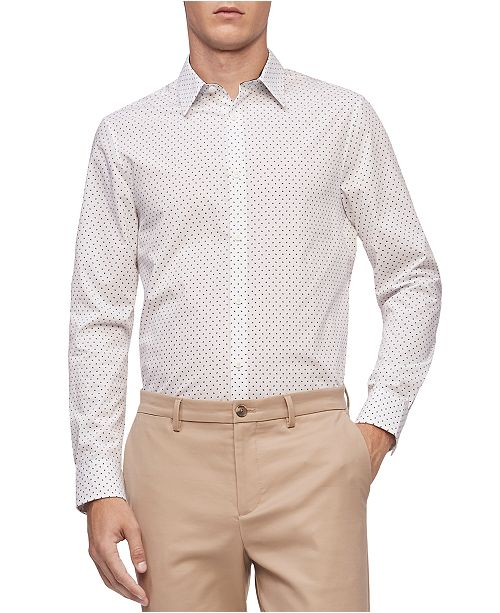 Calvin Klein Men's Geo-Print Classic-Fit Shirt