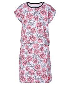 Big Girls Cotton Layered Floral Dress