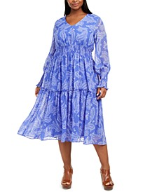 Plus Size Smocked Midi Dress