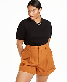 Plus Size T-Shirt Bodysuit, Created for Macy's