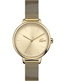 Women's Cannes Gold-Tone Stainless Steel Mesh Bracelet Watch 34mm