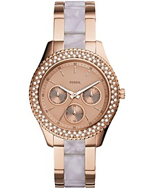 Women's Stella Rose Gold-Tone Stainless Steel & Acetate Bracelet Watch 38mm