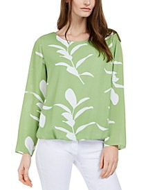 Petite Printed Balloon-Hem Top, Created for Macy's