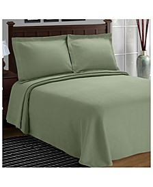 Diamond Pattern Jacquard Matelasse 3 Piece Bedspread Set, Queen