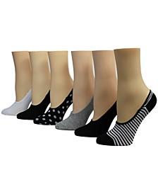 Ladies Foot Liner Socks, Pack of 6